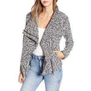 BLANK NYC Friend Zone Textured Zip Coat Jacket